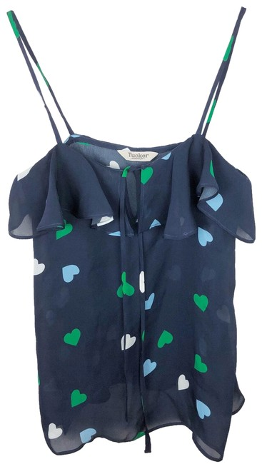 Preload https://img-static.tradesy.com/item/24998547/parker-blue-and-green-all-over-heart-print-ruffle-tank-topcami-size-4-s-0-1-650-650.jpg