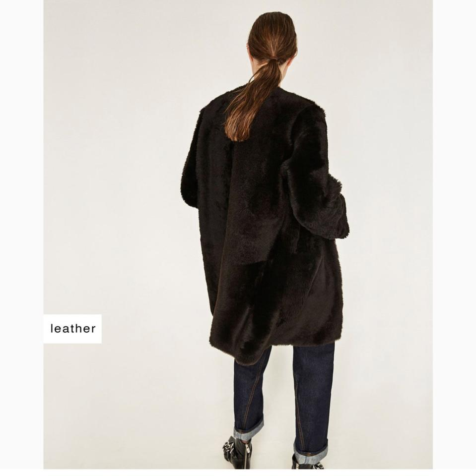 Image 9 of REVERSIBLE LEATHER STUDIO COAT from Zara | colours