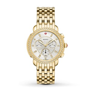 Michele Sidney Stainless Mother of Pearl Diamond Dial MWW30A000008