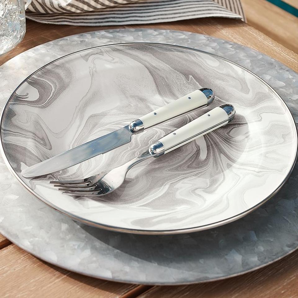 Silver Galvanized Charger Plates Price For 2 50 Available