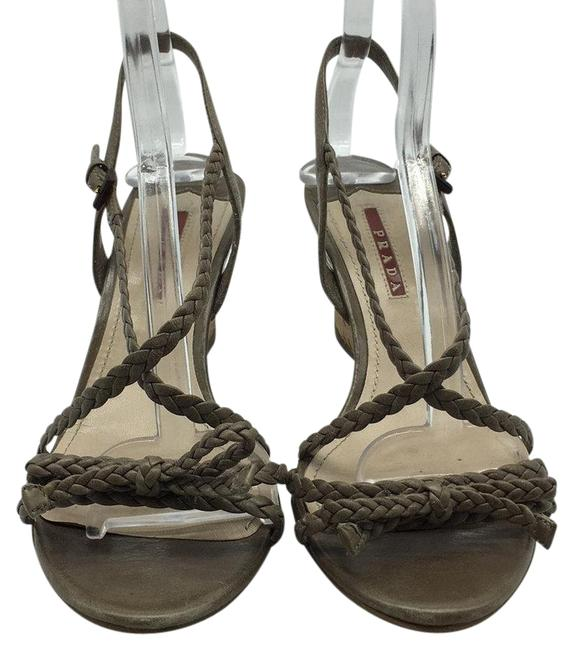 Item - Brown Taupe Braided Leather Cork Wedges Size EU 39 (Approx. US 9) Regular (M, B)
