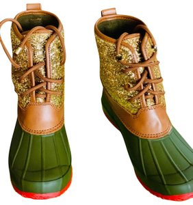 Gianni Bini Tan/Gold/Olive Boots