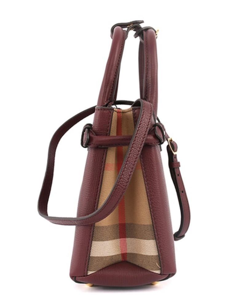 953bb5a43350 Burberry Baby Banner Mahogany Red Leather Satchel - Tradesy