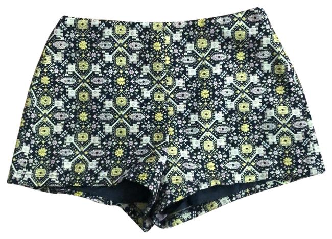 Forever 21 Black Golds Tapestry Shorts Size 4 (S, 27) Forever 21 Black Golds Tapestry Shorts Size 4 (S, 27) Image 1