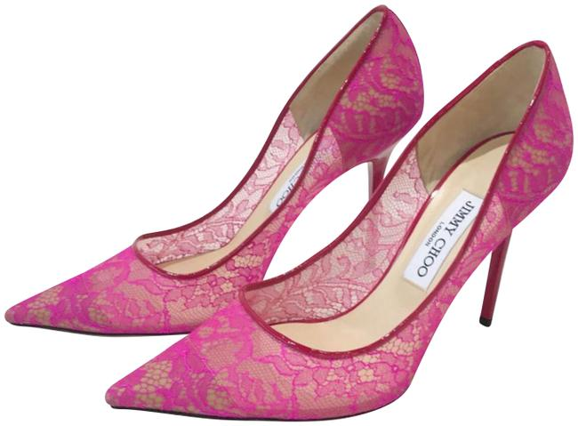 Item - Pink Mesh Lace Classic Pointed Stiletto Heel. Pumps Size EU 38.5 (Approx. US 8.5) Regular (M, B)