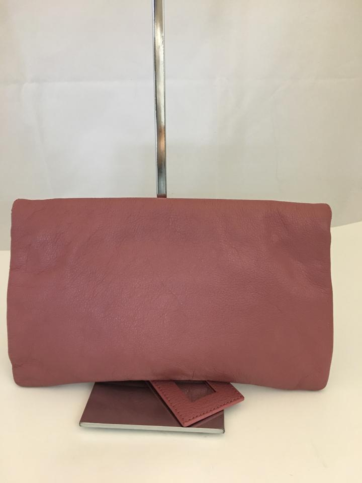 Balenciaga 109319 Agneau Giant 12 Rose Envelope Pink Leather Clutch ... ae220f123f103