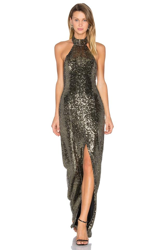 b4776173a8f House of Harlow 1960 Gold Halter Sequin Long Night Out Dress Size 8 ...