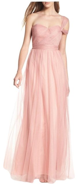 Item - Begonia Pink Anabelle Tulle Convertible Gown Long Formal Dress Size 8 (M)