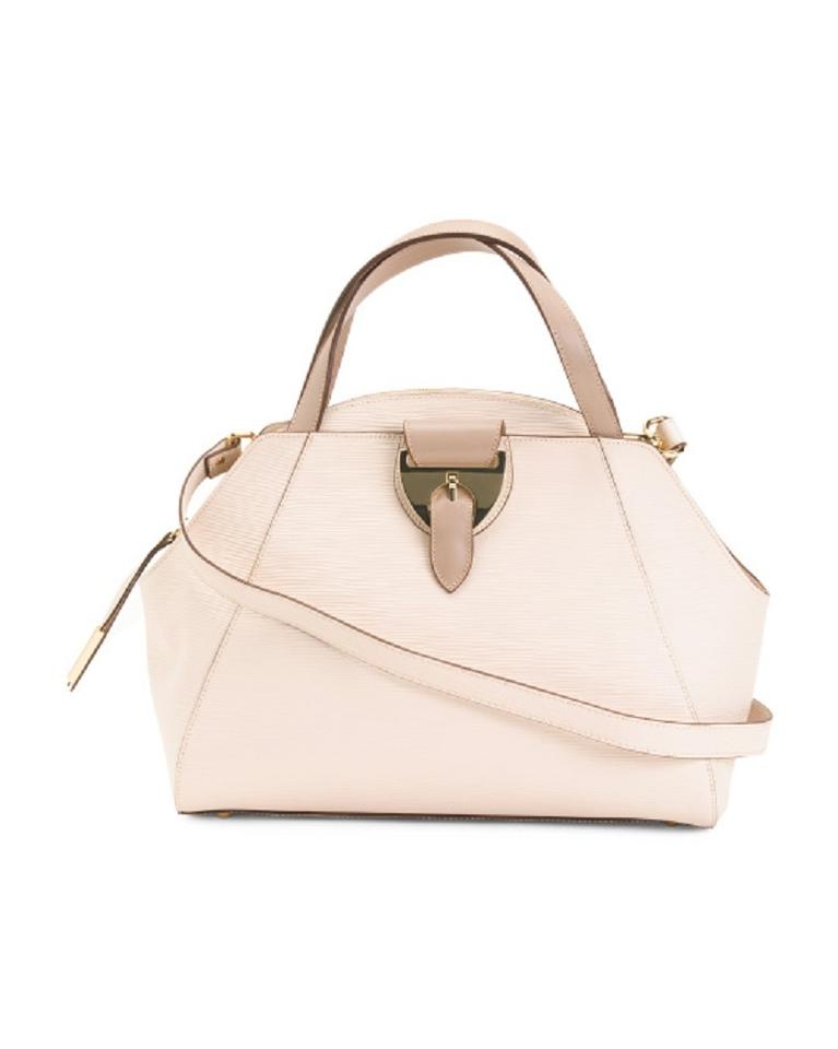 a7015bec326b NICOLI Dome Nude Leather Satchel - Tradesy