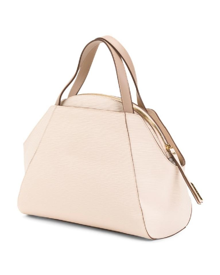 ca5ac6cd03a5 NICOLI Leather Satchel in NUDE Image 3. 1234