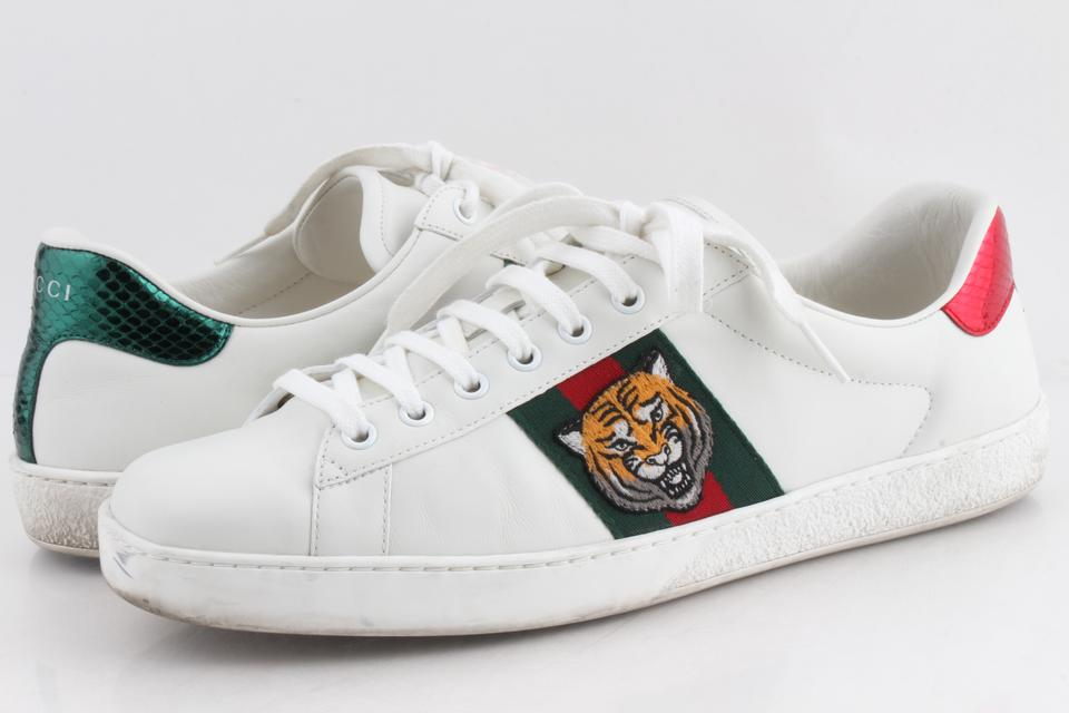 28dfc4092af4 Gucci White Ace Embroidered Sneaker Shoes Image 0 ...