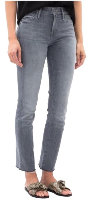 Item - Gray Light Wash Rascal Ankle Snippet Straight Leg Jeans Size 30 (6, M)