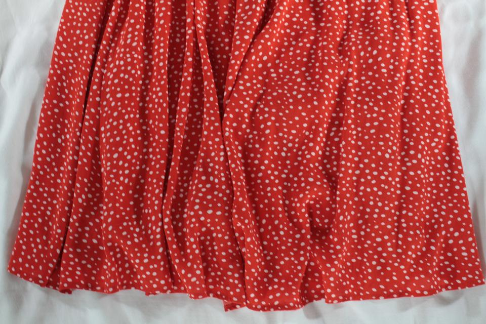 6cc34f0f9 Other Stories Polka Dot A-line Sarong Skirt Red, White Image 10.  1234567891011