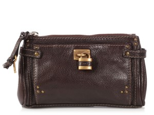 Chloé Brown Leather Paddington Pouch - closet img 7c008b686b3e3