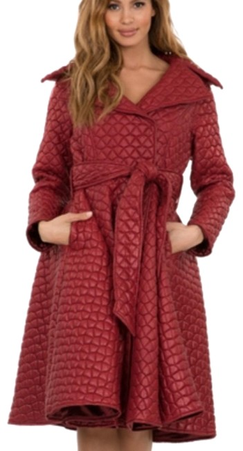 Preload https://img-static.tradesy.com/item/25001648/wine-red-quilted-coat-mid-length-workoffice-dress-size-10-m-0-1-650-650.jpg