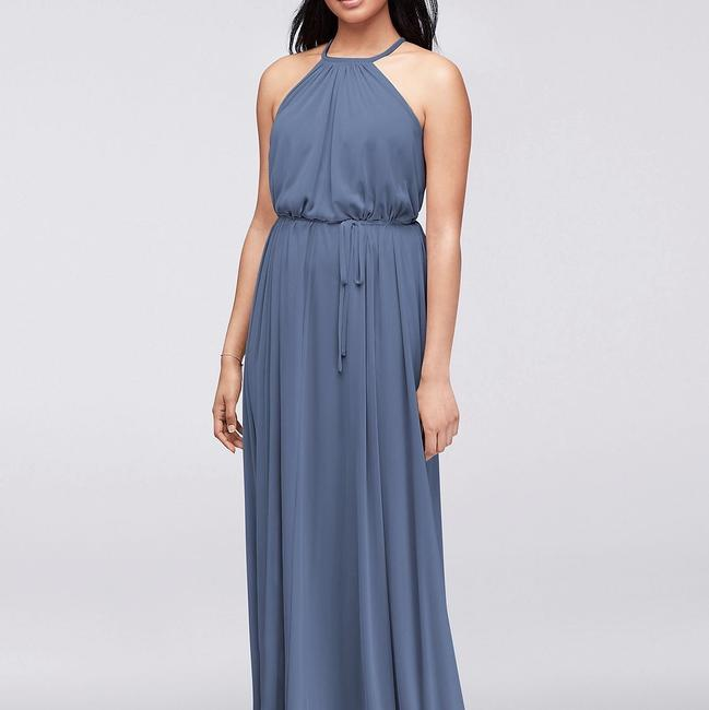 Item - Steel Blue Polyester Casual Bridesmaid/Mob Dress Size 6 (S)