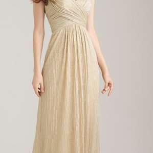 Allure Bridals Gold Shimmery Formal Bridesmaid/Mob Dress Size 10 (M)