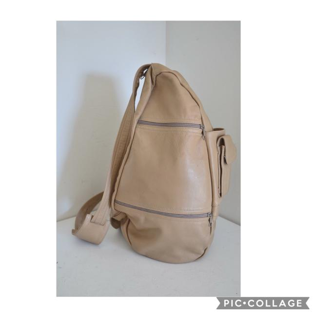 Item - Cream Leather Backpack