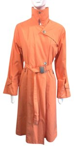 Max Mara Rainwear Trenchcoat Made In Italy Tangerine Jacket