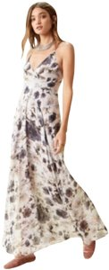 gray white floral Maxi Dress by ASTR