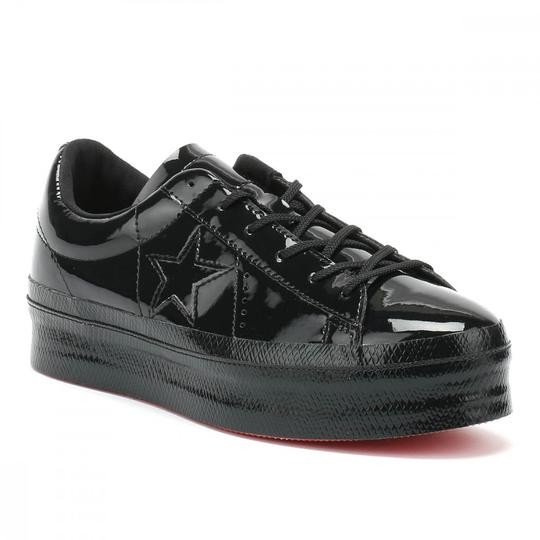 8d15576f9b8bee Converse Black One Star Platform Patented  90s Leather Low Top ...