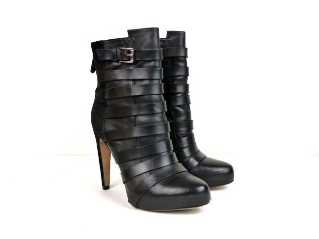 Item - Black Kendrix Suede Leather Ankle Strap Heel Boots/Booties Size US 6 Regular (M, B)