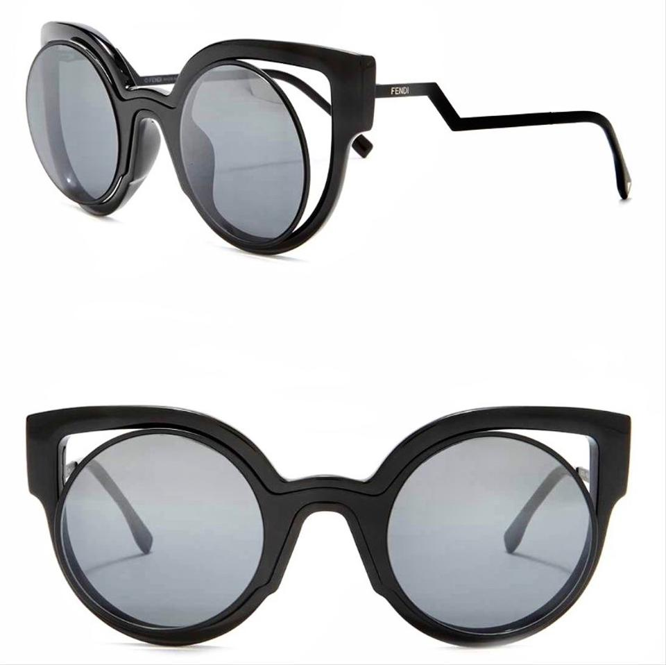 cd51531f10f Fendi Black Cat Eye Cut Out Ff 0137 S Nt2 Cn Sunglasses - Tradesy