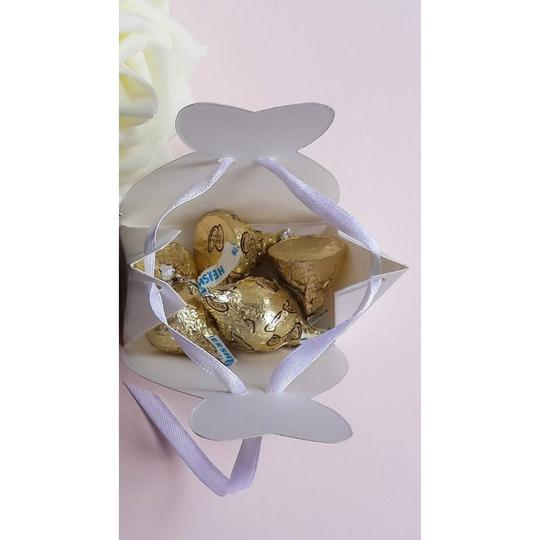 White & Silver 25pc Bridal Dress Wedding Party Favor Gift Boxes Image 2