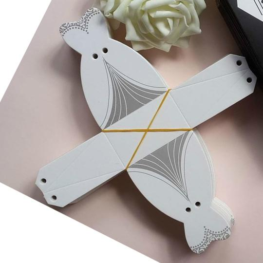 White & Silver 25pc Bridal Dress Wedding Party Favor Gift Boxes Image 4