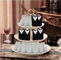White & Silver 25pc Bridal Dress Wedding Party Favor Gift Boxes Image 5