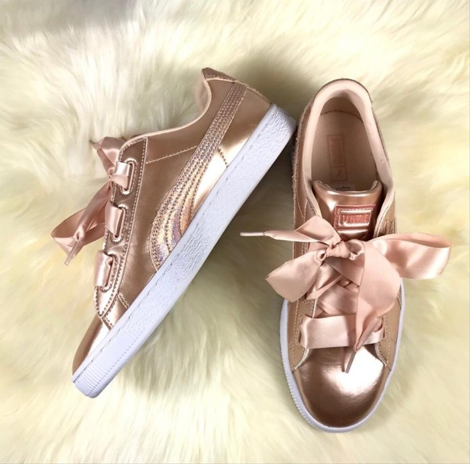 ee0f71768022 Puma Rose Gold Copper Basket Bow Sneakers Sneakers Size US 9 Regular ...