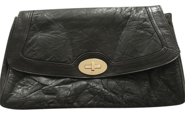 Item - Bcbg Max Azria Weathered Leather Black and Silver. Clutch