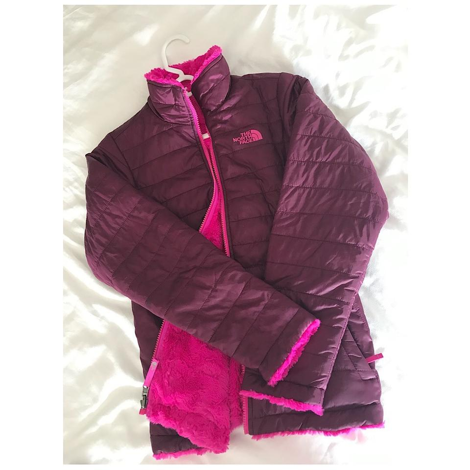 c7e8ac28e The North Face Hot Pink Purple Reversible Puff & Fur Winter Activewear  Outerwear Size Petite 14 (L) 52% off retail
