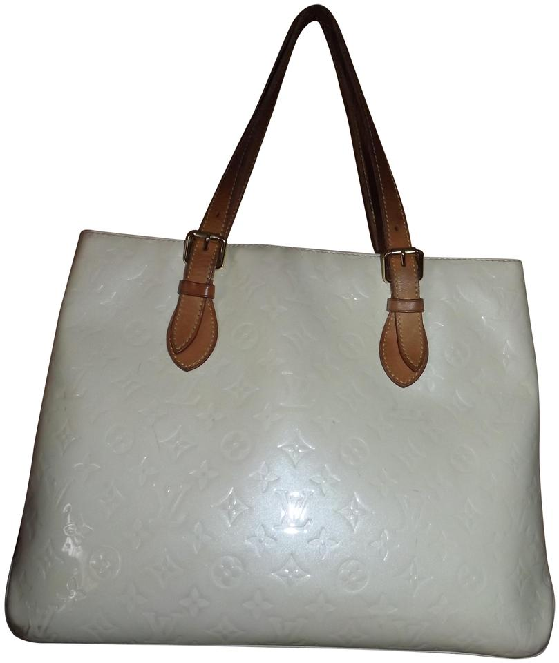 39ef7112e38b Louis Vuitton Brentwood Large Vernis Lv Dustbag Cream Patent Leather ...