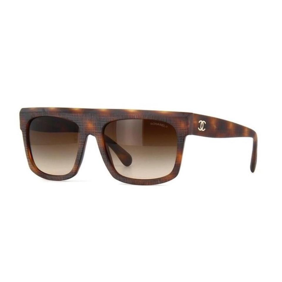 d60bd82d59990 Chanel Brown Oversized Sunglasses - Tradesy
