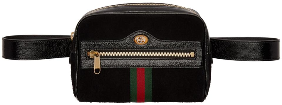 9cf655a67 Gucci Ophidia Gg Suede/Leather Belt Bag- Size 85-34 Black Canvas ...