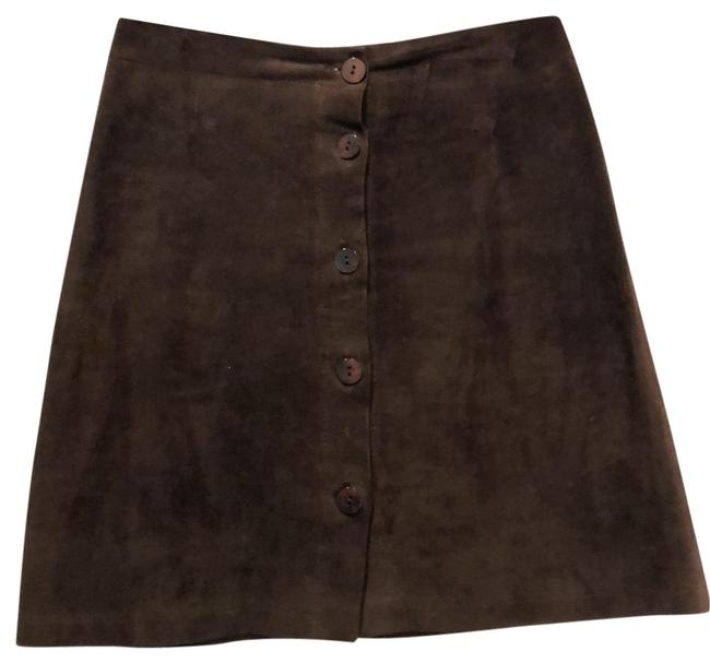 Roberto Collina Brown Suede Up Skirt Size 8 (M, 29, 30) Roberto Collina Brown Suede Up Skirt Size 8 (M, 29, 30) Image 1