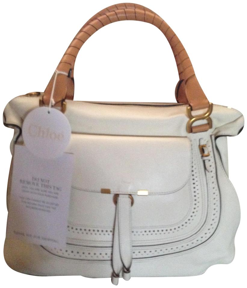 e48c4e8e3bfa Chloé Marcie Porcelain Tan Leather Satchel - Tradesy