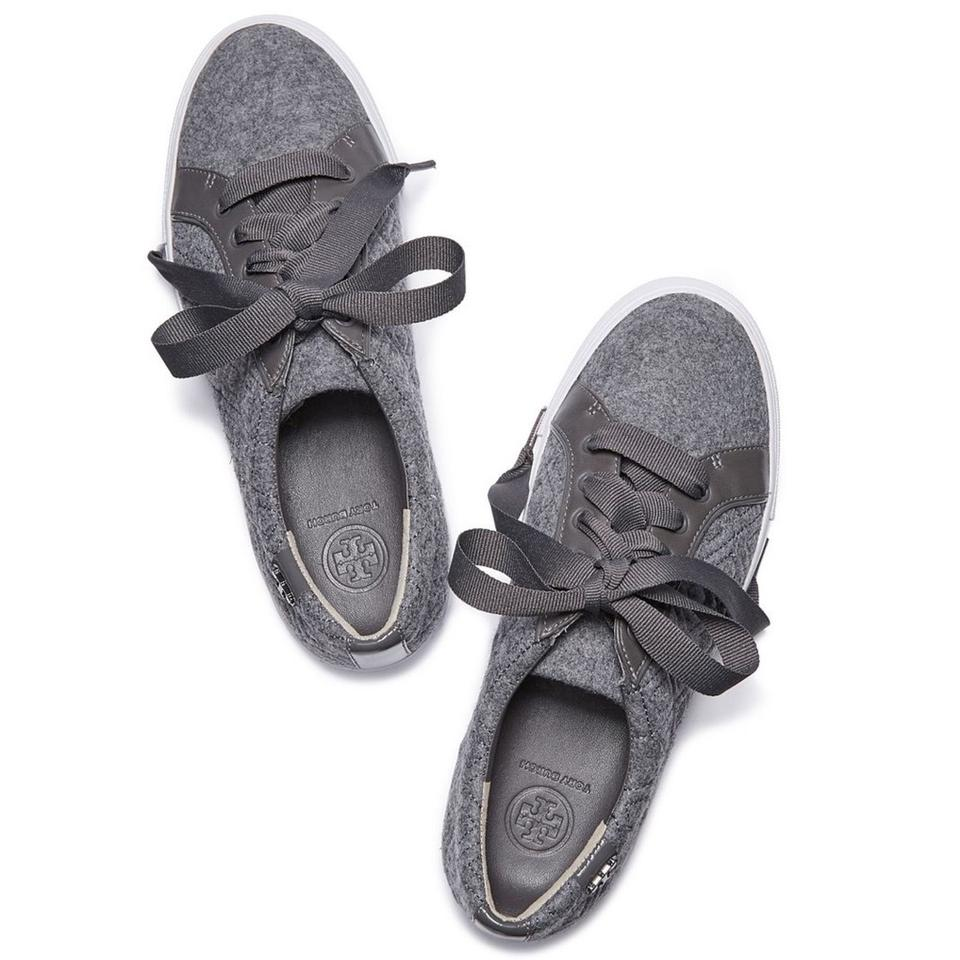 0027c23bb1fa4c Tory Burch New Dove Gray Marion Quilted Fabric Sneakers Sneakers ...