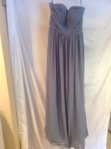 Bill Levkoff Slate Blue Polyester Formal Bridesmaid/Mob Dress Size 8 (M)