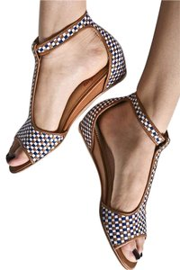 2f2c0a1c347e8 Anthropologie Gold Bronze Silver Faryl Robin Belly T-strap Ankle Anthro  Wedge Woven Sandals. Size: US 8 Regular ...