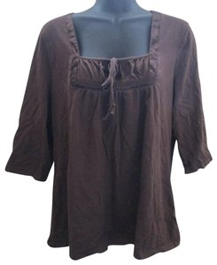 Just My Size Casual Knit Stretch Spring Plus Top Brown