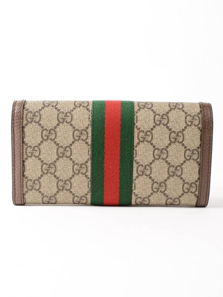 cce6d08ce558 Gucci Brown Grey Canvas Ophidia Gg Continental Wallet - Tradesy