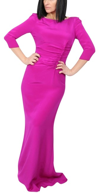 Preload https://img-static.tradesy.com/item/25005825/oscar-de-la-renta-pink-silk-34-sleeve-long-casual-maxi-dress-size-4-s-0-1-650-650.jpg