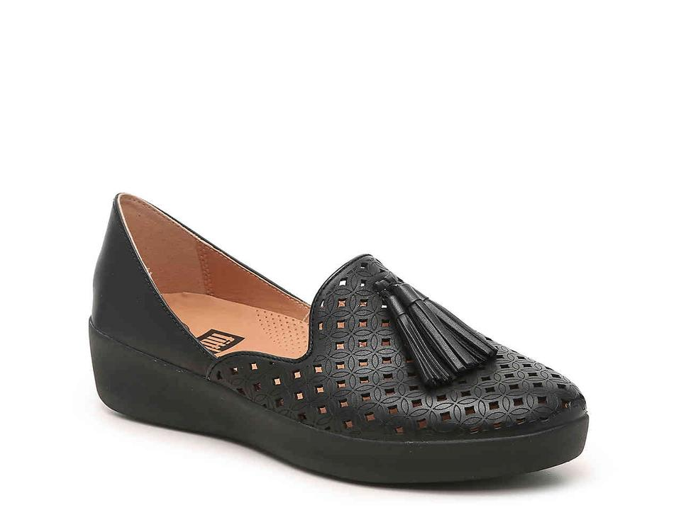 6c00b86673a FitFlop Black Tassel Superskate D orsay Loafers-latticed Leather ...