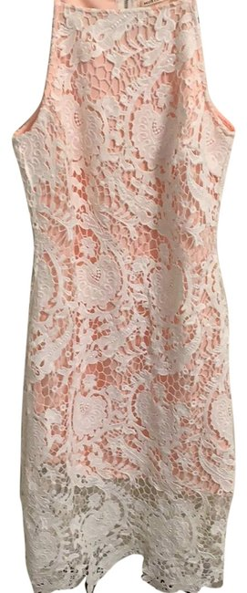 Item - White Lace Mid-length Night Out Dress Size 4 (S)