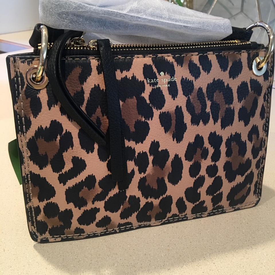 327b6f61f64f Kate Spade Dunne Lane Caro Leopard Leather Cross Body Bag - Tradesy