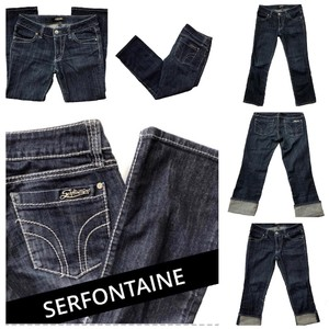Serfontaine Capri/Cropped Denim-Dark Rinse
