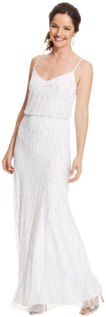 Item - Ivory Beaded Blouson Gown Long Formal Dress Size 4 (S)