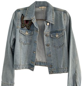 Maje Womens Jean Jacket
